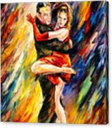 The Sublime Tango - Palette Knife Oil Painting On Canvas By Leonid Afremov Canvas Print
