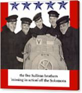 The Sullivan Brothers - They Did Their Part Canvas Print