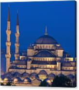 The Sultanahmet Or Blue Mosque At Dusk Canvas Print
