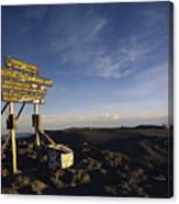 The Summit Of Mt. Kilimanjaro, Africas Canvas Print