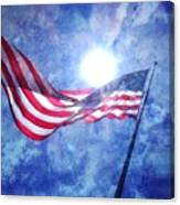 The Sun And The Flag Canvas Print
