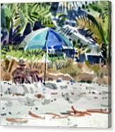 The Sun Bather Canvas Print