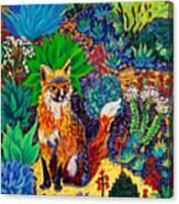 The Sun Fox Canvas Print