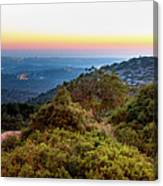 The Sun Of The Evening Of The Mountain And Sea Canvas Print