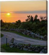 The Sun Sets On Block Island Canvas Print