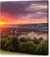 The Sun Sets Over Hexham Canvas Print