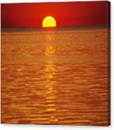 The Sun Sinks Into Pamlico Sound Seen Canvas Print