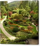 The Sunken Garden At Butchart Gardnes Canvas Print