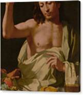 The Supper At Emmaus-detail Canvas Print