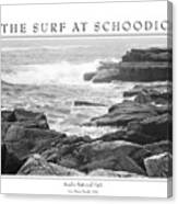 The Surf At Schoodic Canvas Print