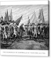 The Surrender Of Cornwallis At Yorktown Canvas Print