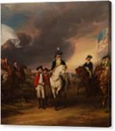 The Surrender Of Lord Cornwallis At Yorktown Canvas Print