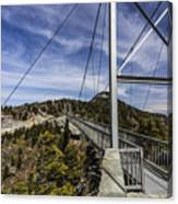 The Swinging Bridge Of Grandfather Mountain Canvas Print