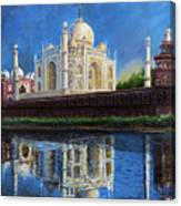 The Taj Mahal Shrine Of Beauty Canvas Print
