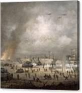 The Tanks Go In - Sword Beach  Canvas Print