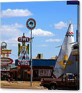 The Tee-pee Curios On Route 66 Nm Canvas Print
