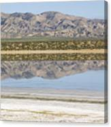The Temblor Range Is Reflected In Soda Canvas Print