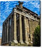 The Temple Of Antoninus And Faustina Canvas Print