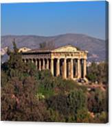 The Temple Of Hephaestus In The Morning, Athens, Greece Canvas Print