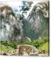 The Temple Of The Sun. Machu Picchu Canvas Print