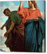 The Temptation Of Christ By The Devil Canvas Print