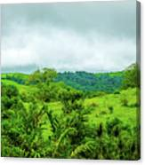 The Terrain Of Costa Rica  Canvas Print