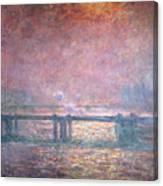 The Thames At Charing Cross Canvas Print