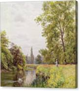 The Thames At Purley Canvas Print