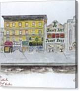 Theatre's Of Harlem's 125th Street Canvas Print