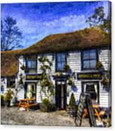 The Theydon Oak Pub Art Canvas Print