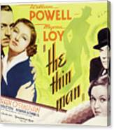 The Thin Man 1934 Canvas Print