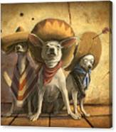 The Three Banditos Canvas Print