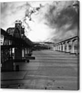 The Three Benicia-martinez Bridges . A Journey Through Time . Black And White Canvas Print