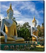 The Three Buddhas  Canvas Print