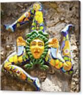 The Three-legged Symbol Of Sicily, Italy - Trinacria  Canvas Print