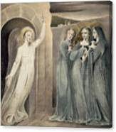 The Three Maries At The Sepulchre Canvas Print
