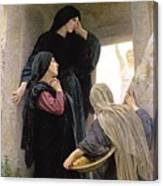 The Three Marys At The Tomb Canvas Print