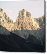 The Three Sisters Of The Rockies Canvas Print