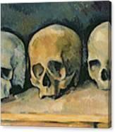 The Three Skulls Canvas Print