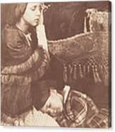 The Three Sleepers: Sophia Finlay, Harriet Farnie And Brownie Canvas Print