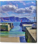 The Tide Is Out In The Harbour Canvas Print