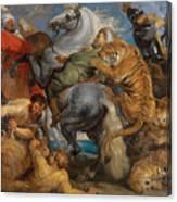The Tiger Hunt Canvas Print