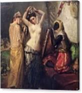 The Toilet In The Seraglio Canvas Print