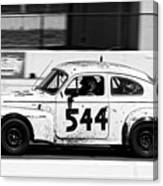 The Tortoise -- 1963 Volvo Pv544 At The 24 Hours Of Lemons Race, Sonoma California Canvas Print