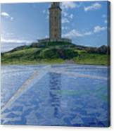 The Tower Of Hercules And The Rose Of The Winds Canvas Print