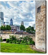 The Tower Of London And The City District With Gherkin Skyscraper, The Uk Canvas Print