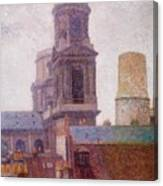 The Towers Saint Sulpice 1887 Canvas Print