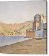 The Town Beach Collioure Opus 165 Collioure La Plage De La Ville Opus 165 Canvas Print