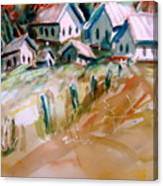 The Town On Shaky Ground Canvas Print