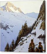 The Trail Over The Pass, 1910 Canvas Print